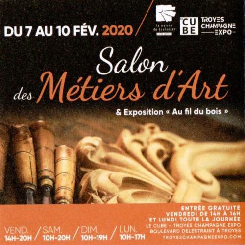 SALON DES METIERS D ART TROYES 7 AU 10 FEVRIER