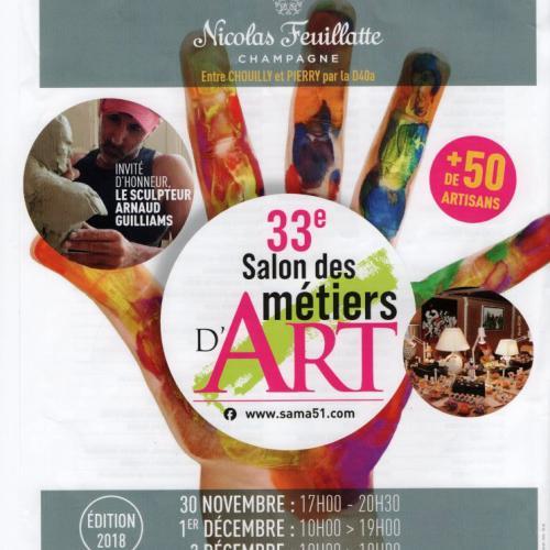 33 ème Salon des Métiers d'Art  CHOUILLY  30 novembre au 2 décembre
