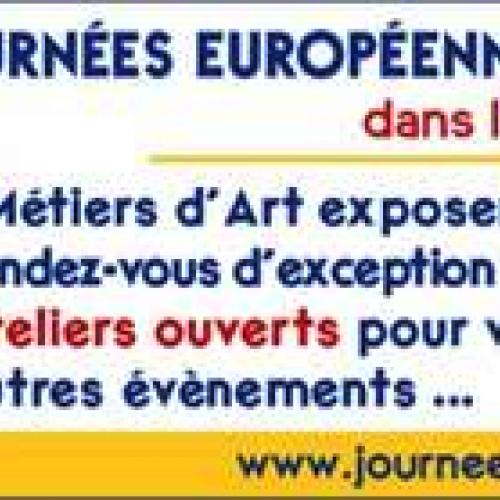 SENS    JOURNEES EUROPEENNES DES METIERS D ART