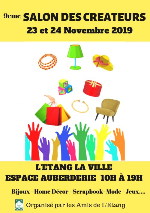 SALON DES CREATEURS L'Etang la Ville (78) 23 et 24 novembre 2019